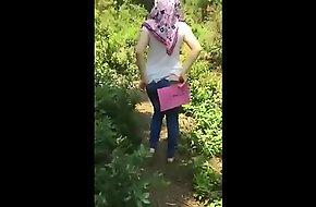 Turkish Turbanli Girl Shows Ass
