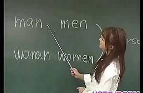 Manami Suzuki is pumped involving along to classroom