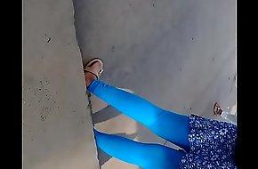 Sexy  desi college girl leggings part 1