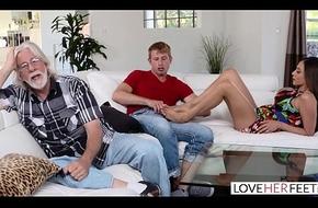 LoveHerFeet - Stepmom Desires My Cum Vulnerable Avow ungenerous relative to Arms