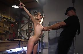 Bound outstay with natural boobs gets roughly drilled by will not hear of dab hand