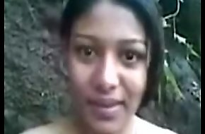Incomparable indian unshaded working as A partime callgirl nearby forest